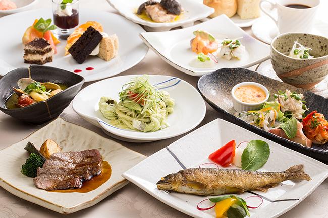 【5月イタリア和感会席ランチ・ディナーコース~皐月~】イタリア料理に日本らしさをプラス!すべてお箸でお召し上がりいただくコースです。