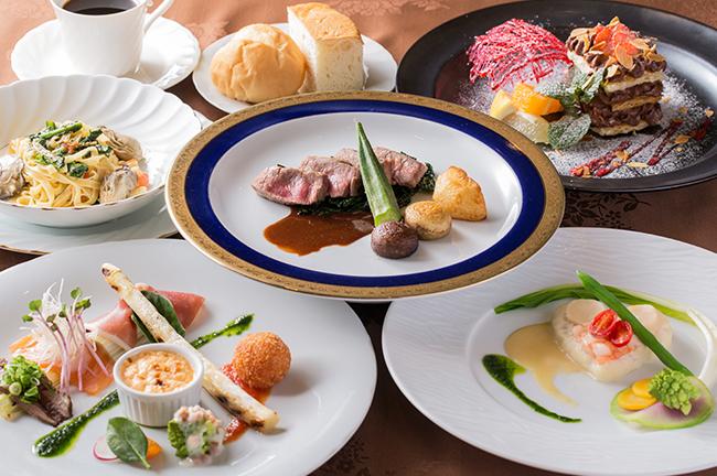 【2月のおすすめお得なランチコース】パスタも充実!仔牛ロース肉、仔牛フィレ肉や特選和牛フィレ肉、活オマール海老などを使用した贅沢ランチ!